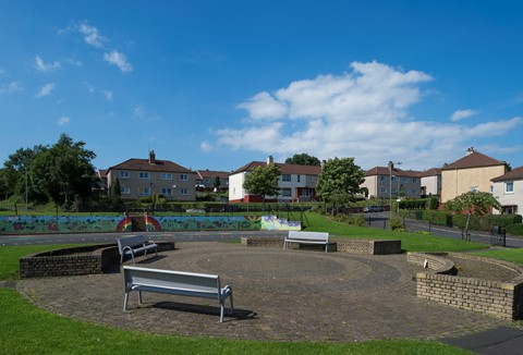 Park in a housing estate