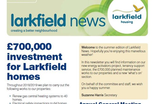 Front cover of Larkfield News summer 2018