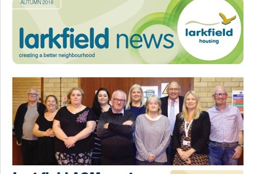Front cover of the autumn 2018 edition of Larkfield news