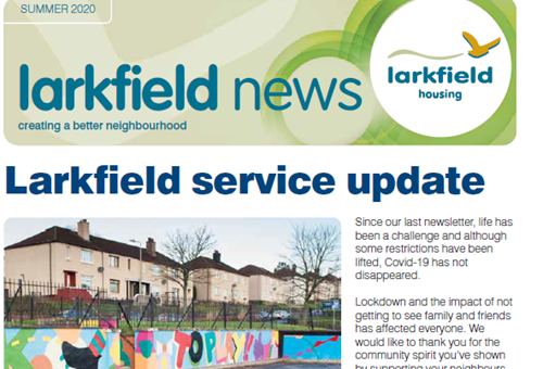 Front cover of the summer 2020 edition of Larkfield News